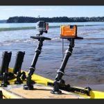 Platform 150 de Railblaza con cámara de fotos y GoPro