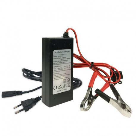 Cargador baterías 12V/4aH Aquaparx