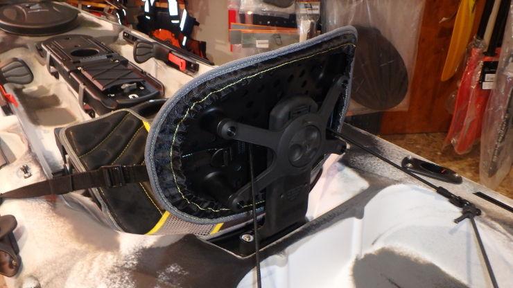 Asiento ACS2 de Ocean Kayak parte posterior