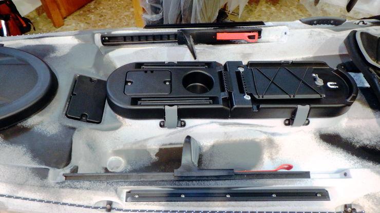 Consola Rod Pod II cerrada y sistema de raíles laterales